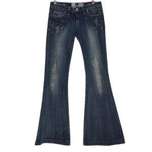 Re Rock For Express Super Flare Denim Jeans